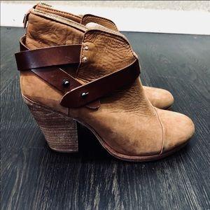 Rag & Bone HARROW Suede Ankle Strap Boots